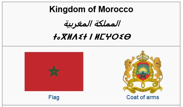 Morocco from Wikipedia. [Screen capture by me.]