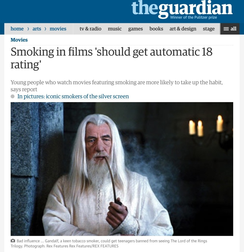 Screen capture of the Guardian, September 2011.
