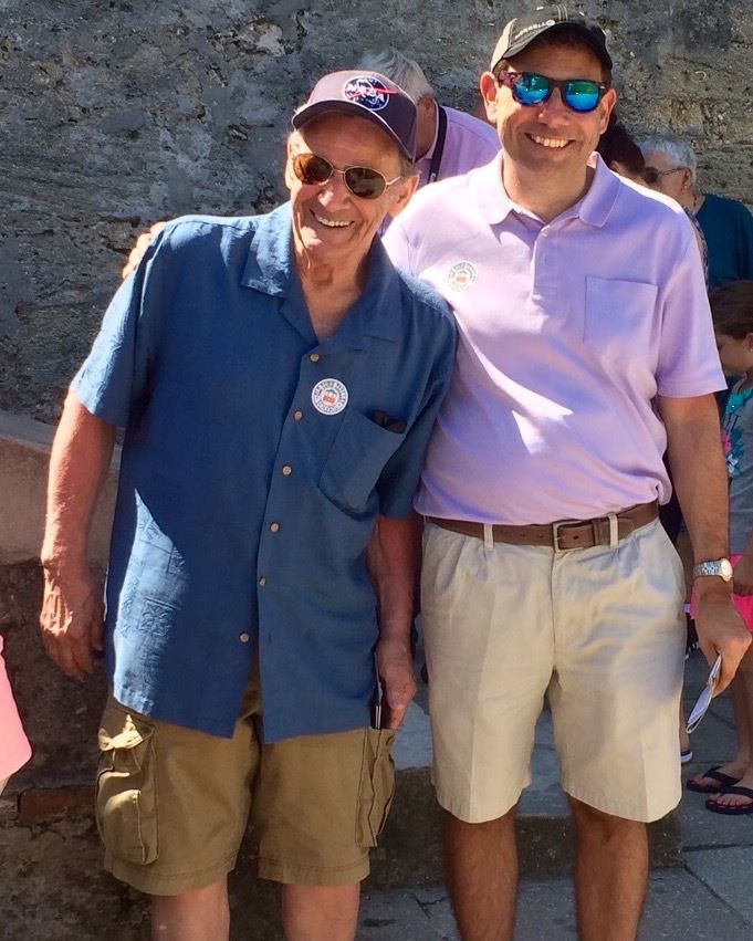 Father (left) and son. Castillo de San Marcos, St Augustine, Florida. [Photo by Mrs. Nello, 2015.]