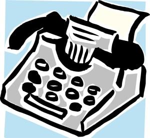Free Stock Photo: Illustration of a typewriter.