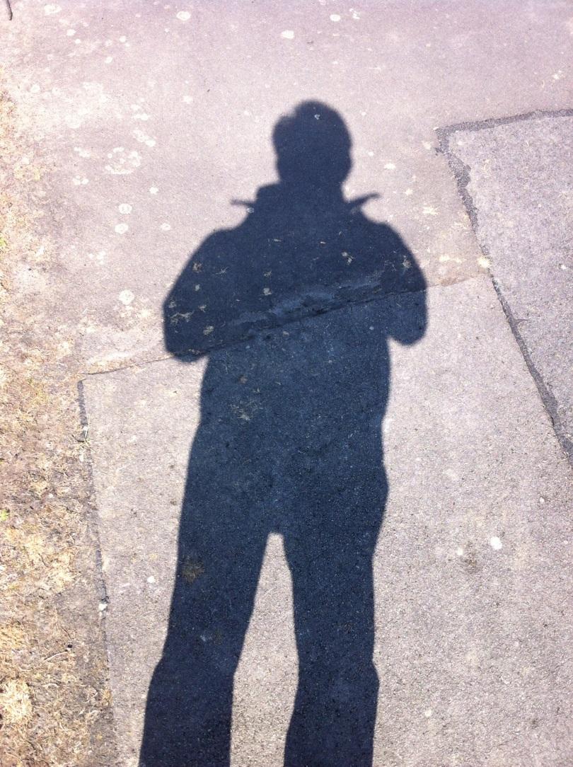 Menacing, huh? [Photo of my shadow. By me, 2015.]
