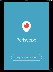 Screenshot this morning of the Periscope app on my iPad.