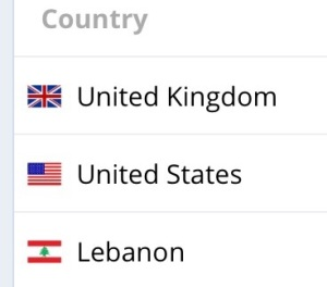 My top 3 visitor source countries yesterday.