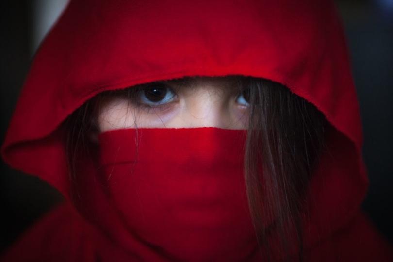 Free Stock Photo: Red female ninja.