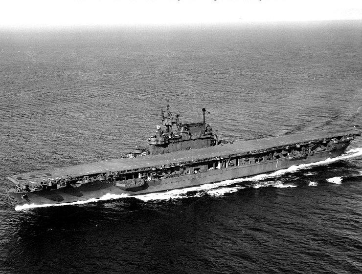 USS Enterprise (CV-6) in Puget Sound, September 1945. Official U.S. Navy photo.