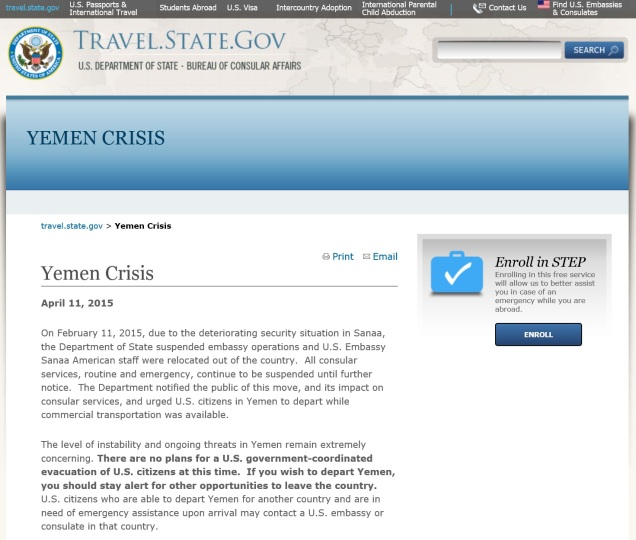Yemen Crisis Update, April 11, 2015