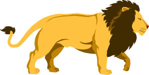 Free Stock Photo: Illustration of a lion.
