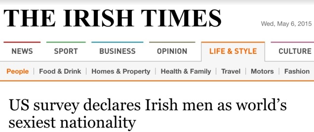 Screen capture of the Irish Times.