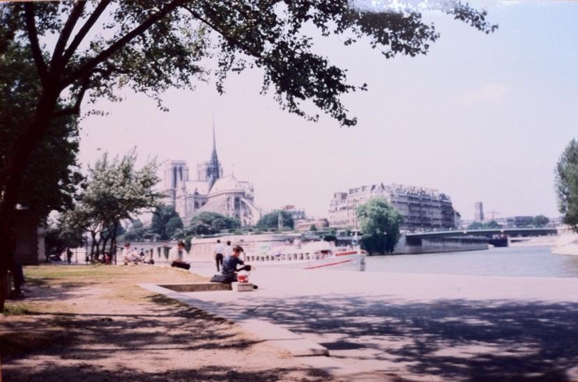 Looking toward Notre-Dame. Paris, France. [Photo by me, 1995.]