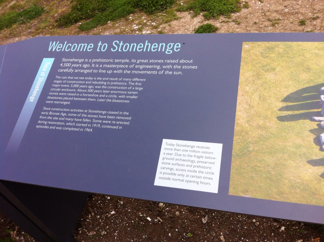 Welcome to Stonehenge. [Photo by me, 2015.]