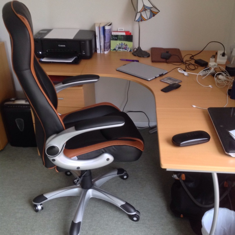 My new office chair! [Photo by me, 2015.]