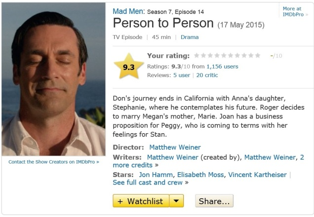 Screen capture of IMDB.