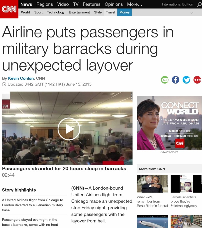 Screen capture of CNN web site.