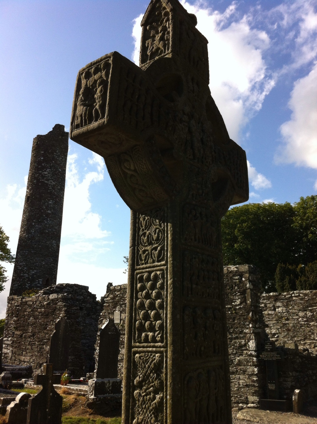 One of the stone crosses: Muiredach's Cross. [Photo by me, 2015.]