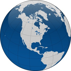 Free Stock Photo: Illustration of a globe with borders.
