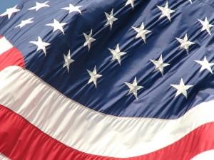 Free Stock Photo: Closeup of a United States flag.