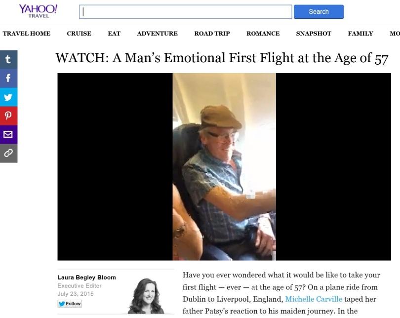 Screen capture of Yahoo.