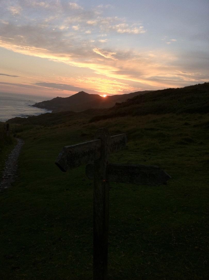 Sunset, Devon. [Photo by me, 2015]