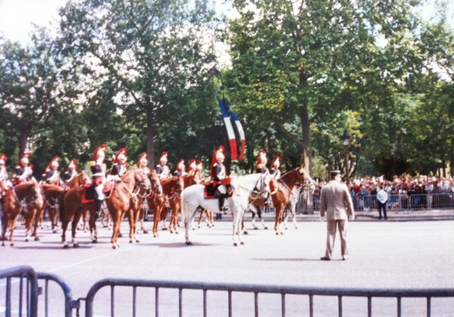 The Bastille Day parade, July 1995. [Photo by me, 1995.]