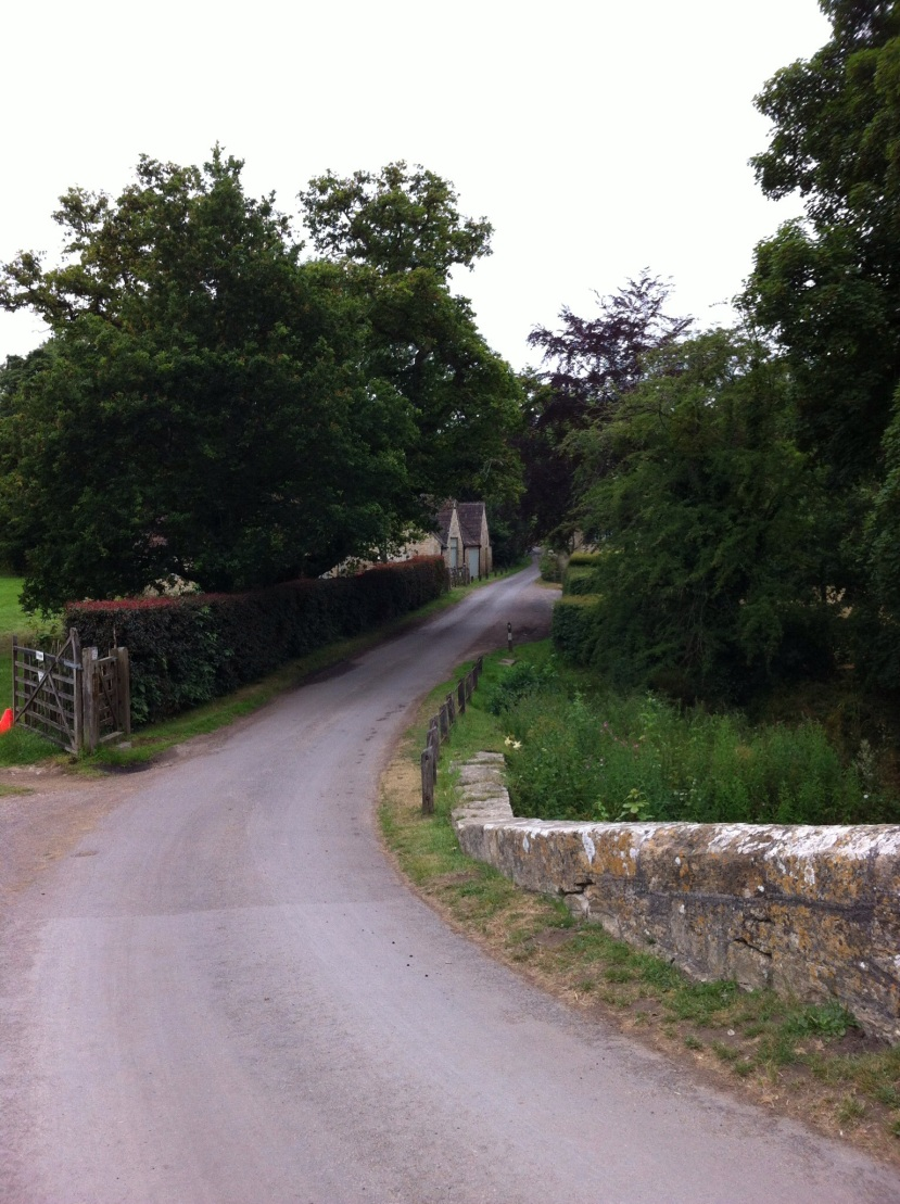 This is a two-way English country road. [Photo by me, 2015.]