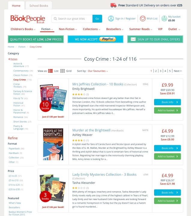 Screen capture of The BookPeople Limited,