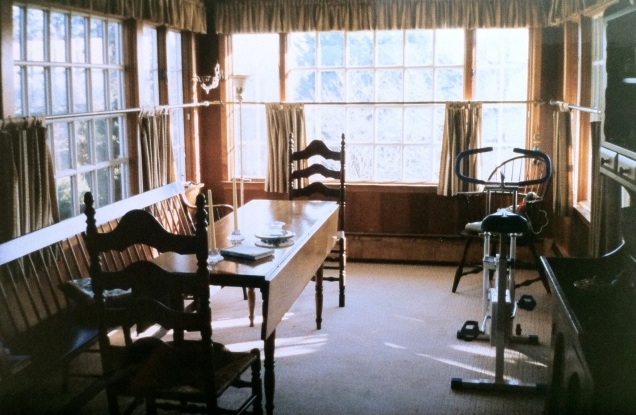 Dining room table, Newport, Rhode Island. [Photo by me, 1991.]