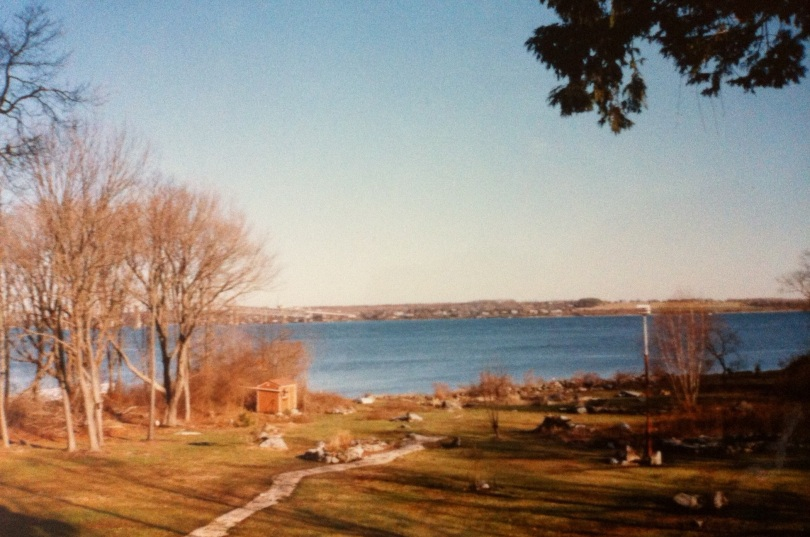A view of Narragansett Bay, outside Newport, Rhode Island. [Photo by me, 1991.]
