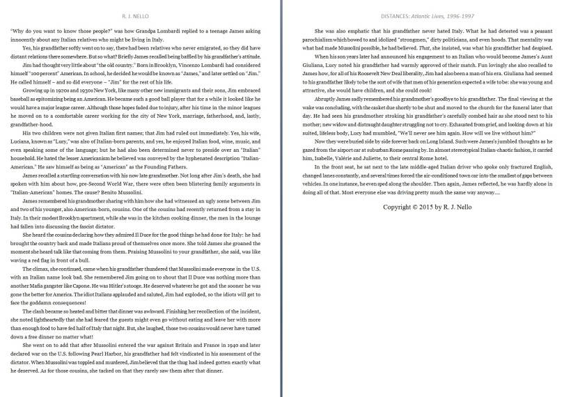 "A sneak peek into ""Distances."" Click to enlarge."
