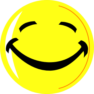 Free Stock Photo: Illustration of a yellow smiley face.