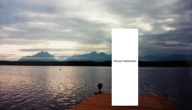 Sunset mountain view, Alaska, 1994. [Photo by me.]