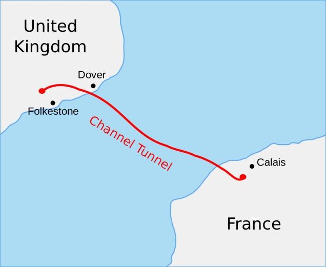 Channel Tunnel, on Wikipedia.
