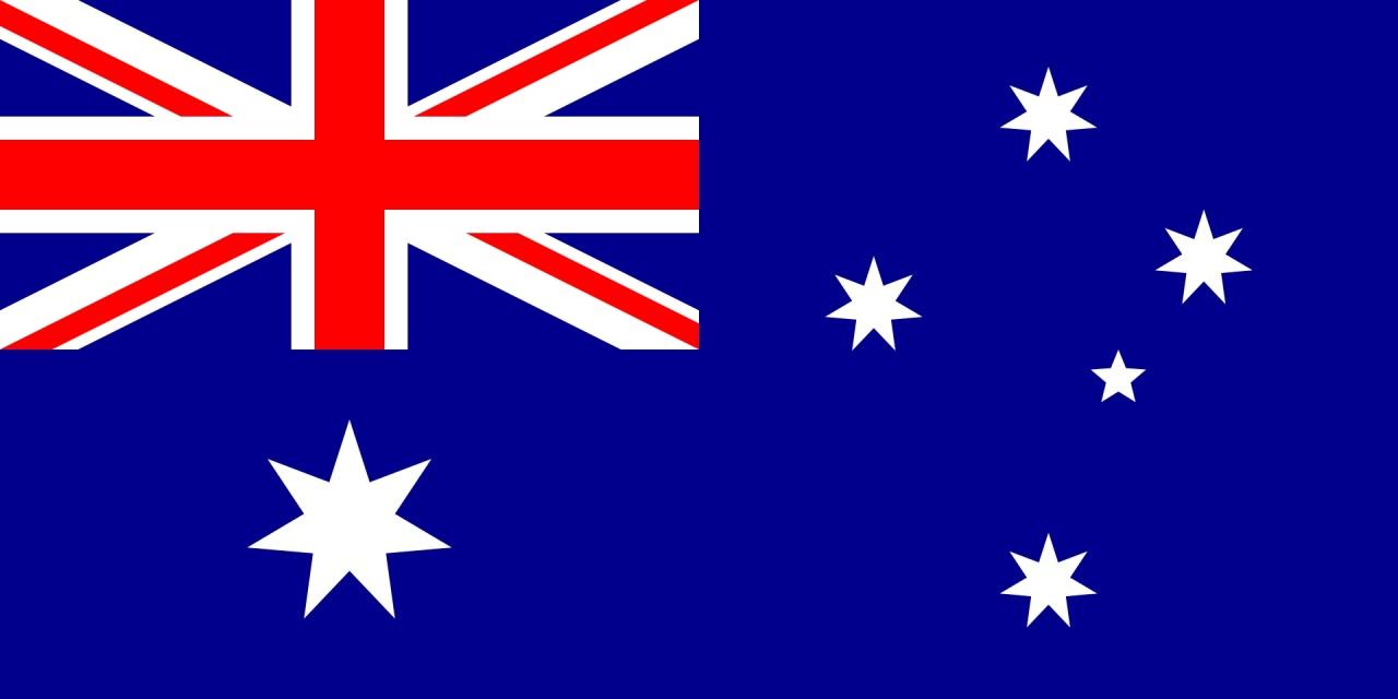 Australian flag, via Wikipedia.