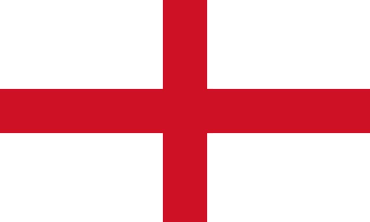 England flag, via Wikipedia.