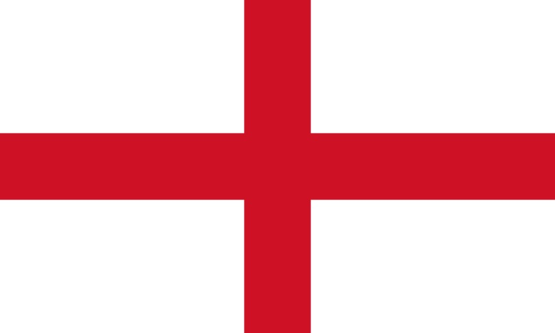 England flag, via Wikipedia.