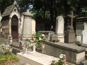 Free Stock Photo: Graves at Pere-Lachaise cemetery in Paris, France.