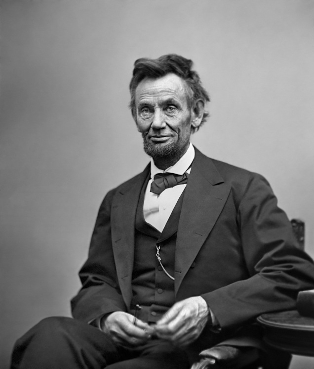 Abraham Lincoln, February 1865.
