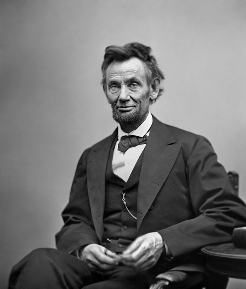 Abraham Lincoln, February 1865.