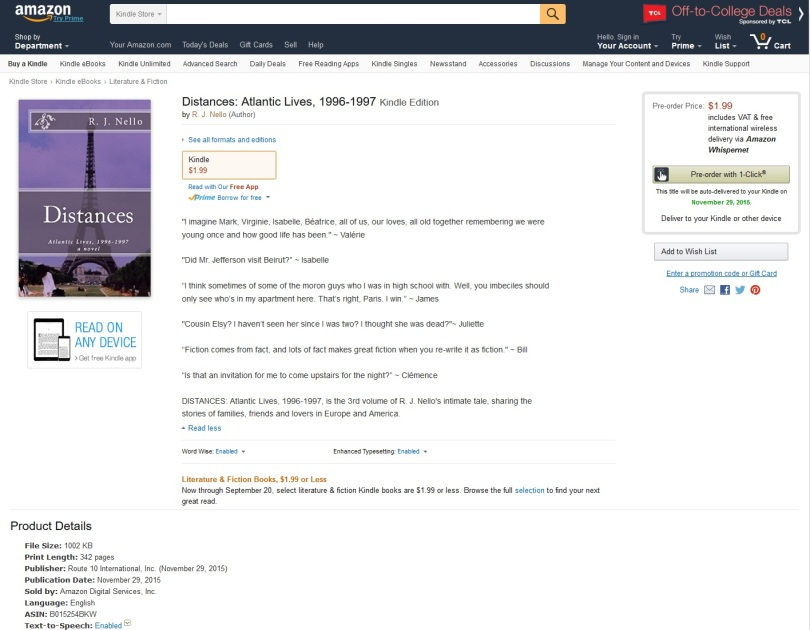 Screen capture of Amazon.com.