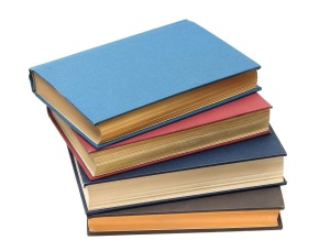 Free Stock Photo: A stack of books isolated on a white background.
