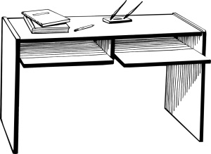 Free Stock Photo: Illustration of a desk.