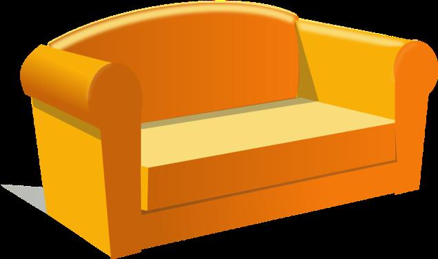Free Stock Photo: Illustration of a sofa.