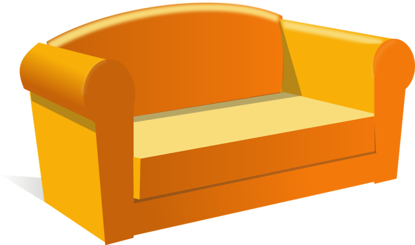 Free Stock Photo: Illustration of a sofa.