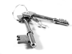 Free Stock Photo: A set of keys isolated on a white background.