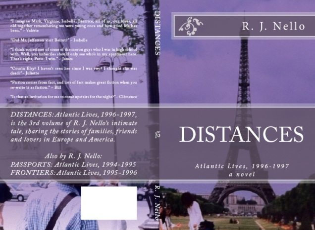 "The back and front covers for ""Distances"" - the print version."