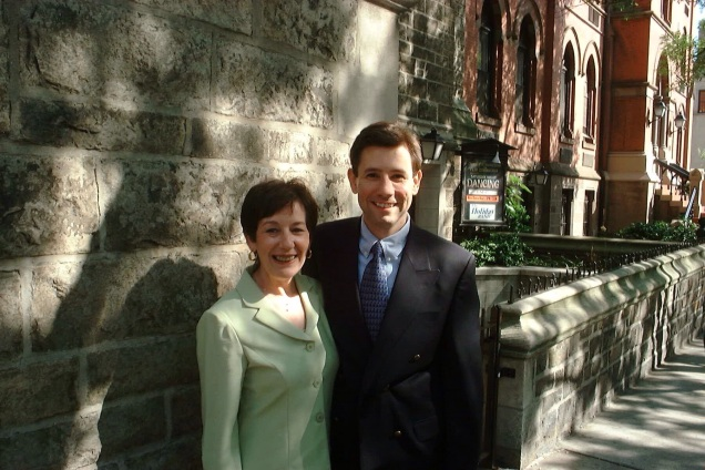 Outside a cousin's wedding, in Manhattan, 2002. [Photo - I think - by my wife.]