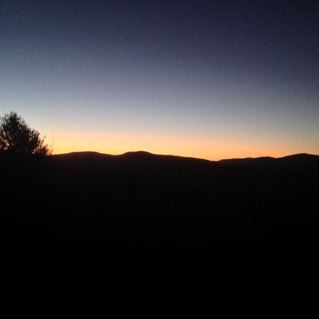 The Catskills, 6 AM. [Photo by me, 2015.]