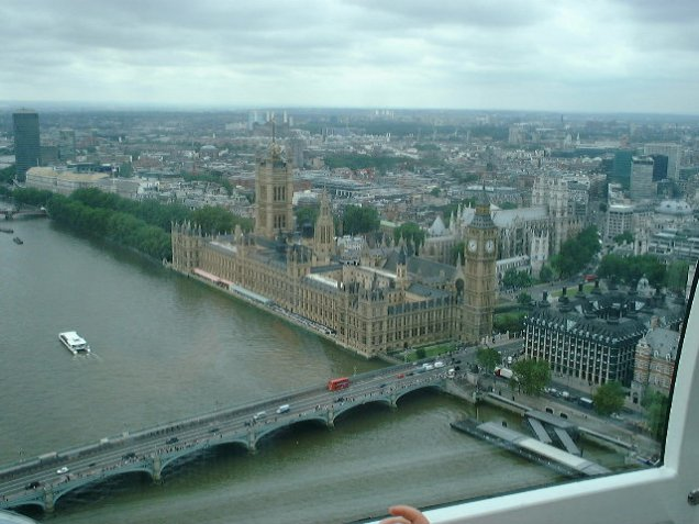 View from the London Eye. [Photo by me, 2004.]