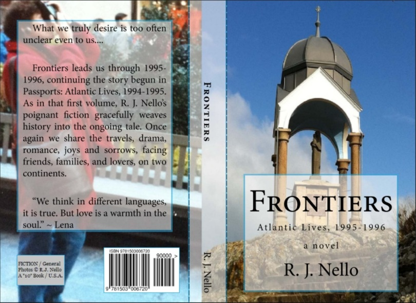 "The back and front covers for ""Frontiers"" - the print version. [Copyright © 2014 by R. J. Nello.]"