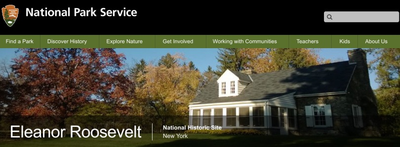 Screen capture of the National Park Service web site.