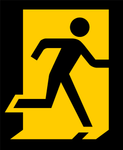 Free Stock Photo: Illustration of an exit sign.